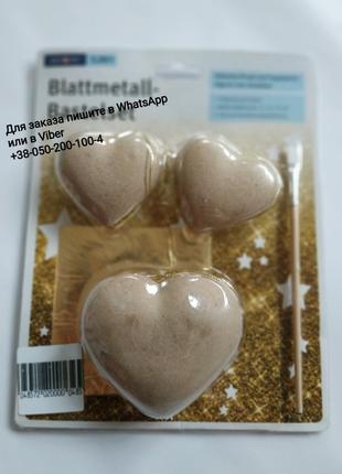 Объемное сердце для декупажа золото декор заготовка декупаж набор