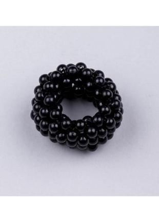 Резинка для волос с чёрным жемчугом