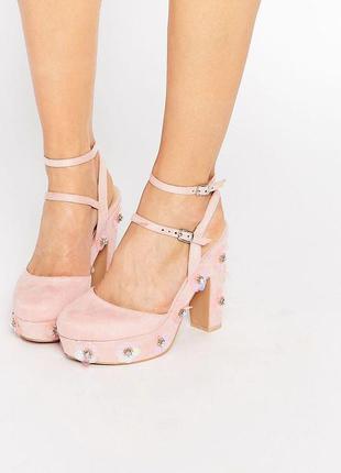 Туфли с открытой пяткой босоножки на каблуке и платформе асос ...