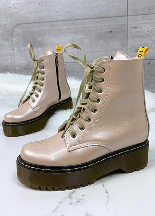 """Трендовые ботинки """"dr. martens"""" из натуральной кожи"""