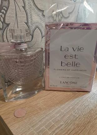 ☆оригинал☆75мл lancome la vie est belle flowers of happiness  ...