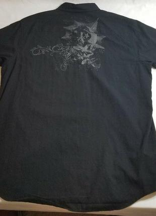 Мужская рубашка с рисунком черепа на спине размера xxl anchor ...
