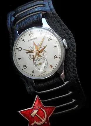 Часы «ПОБЕДА» времён СТАЛИНА, сделано в СССР 52 г. МЕХАНИКА.