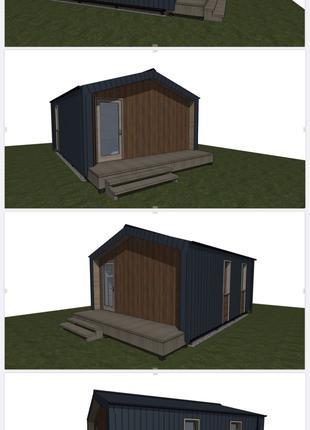 Каркасный мини дом, дубльдом, дача