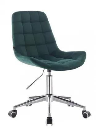 Кресло HR590K Зеленое бутылочное велюр