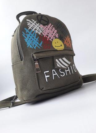 Стильный женский рюкзак, небольшой брезентовый рюкзак, качеств...