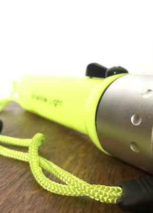 Ручной подводный фонарь для дайвинга фонарик Yellow