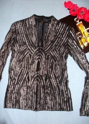 Блузка кофточка с серебристым напылением размер 44 / 10 супер ...