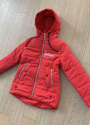 Демисезонная курточка на девочку 9-12 лет