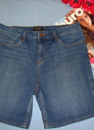 Женские шорты джинсовые размер 44-46 / 10 синие голубые коротк...