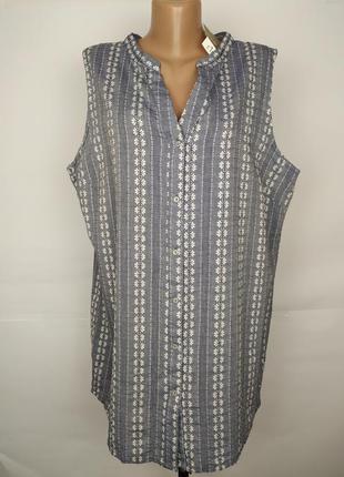Блуза новая хлопковая красивая большой размер uk 18/46/xxl