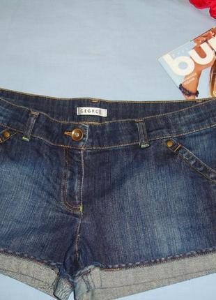 Женские шорты джинсовые размер 46-48 / 12 короткие летние модн...