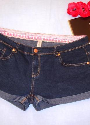 Женские шорты джинсовые размер 52 / 18 короткие темные деним к...