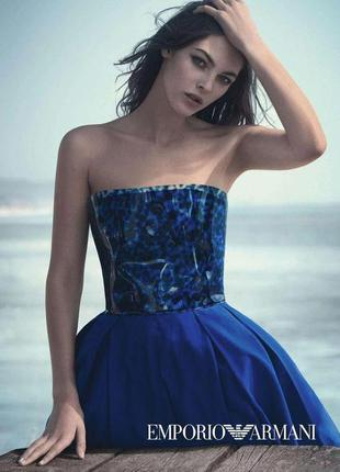 Тренд шовкове плаття emporio armani корсет пластик платье шелк...