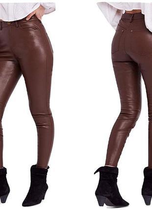 Кожаные штаны. джинсы с напылением кожы. джинсы скины