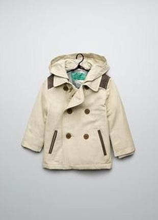 Стильный детский пиджачок плащ тренч zara