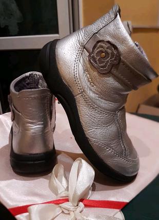 Ботинки для девочки ECCO кожаные 26р