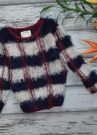 6-7 лет пушистый свитер травка zara girl