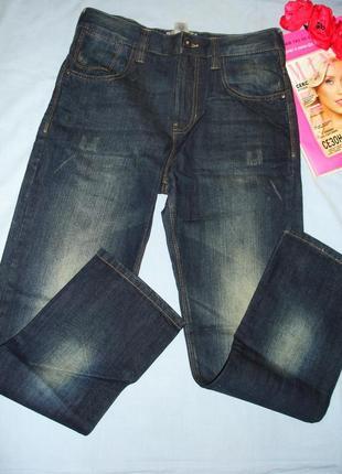 Джинсы для девочки детские на рост 164см 14 лет темные модные ...