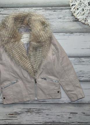 7 лет куртка кожанка косуха с мехом river island