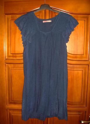 Платье сукня летнее сарафан легкий свободный размер 46-48 / 12...
