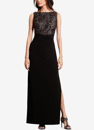 Дизайнерське довге вечірнє плаття  lauren ralph Lauren