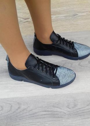 Кожаные кроссовки женские, 37 39 40 размера ,кожаные кеды / шк...