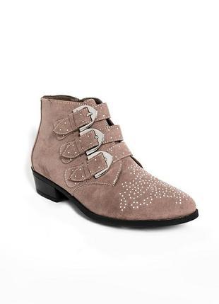 Ботинки челси под замшу с заклёпками тм new look.