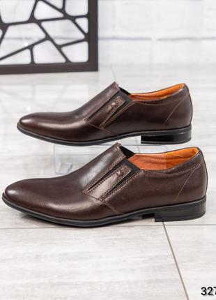❤ мужские коричневые кожаные туфли ❤