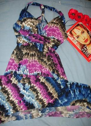 Платье сукня в пол размер 46-48 / 12 женский сарафан летний дл...
