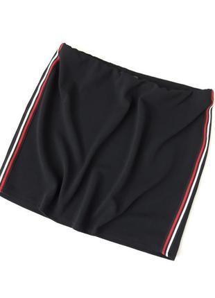Черная юбка с лампасами новая с биркой батал большой размер pr...
