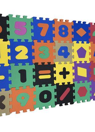 Коврик-пазл EVA , «Математика+геометрія» н, 28 шт. 0,51 м2, 13,5