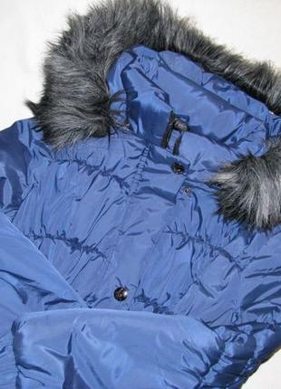Зимняя теплая куртка пальто тепла зимова куртка пальто 46 48