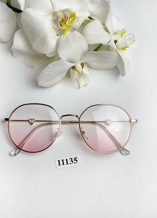 Имиджевые очки в золотистой оправе к.11135