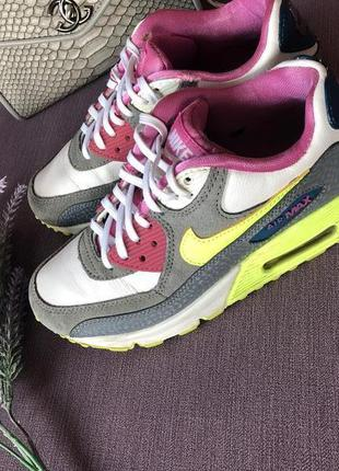 Трендовые кроссовки nike air max 35/36 размер
