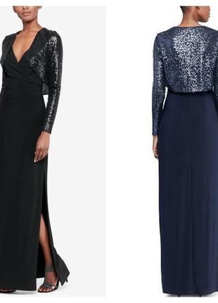Дизайнерське довге вечірнє плаття lauren ralph lauren.