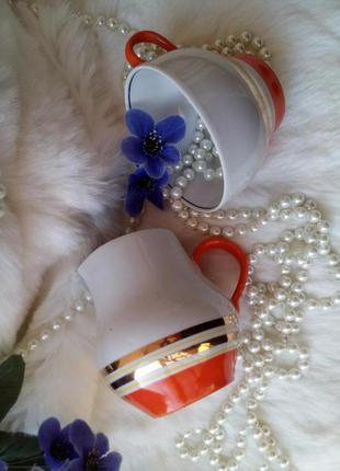 Сервиз ссср (сливочник и чашка) барановского фз, 70-х годов фа...