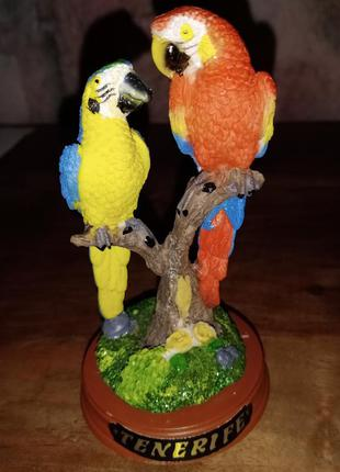 Статуэтка попугайчики