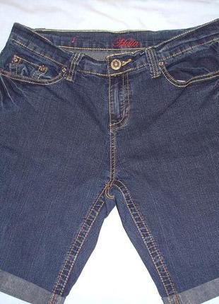 Женские шорты джинсовые размер 48 / 14 l стрейч темно синие ко...