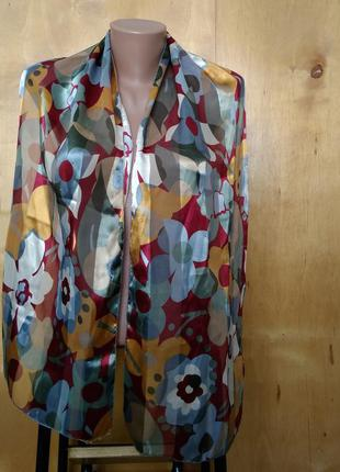 152х35 см легкий шелковый шарф шаль палантин в принт ромашки