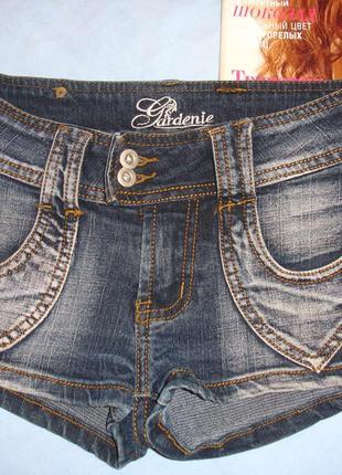 Шорты детские короткие джинсовые девочке 9-10 лет размер 4-6 с...