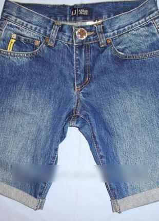 Шорты armani jeans размер 42 / 28 джинсовые стразы женские шор...