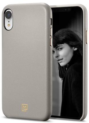 Чехол Spigen La Manon Calin для iPhone XR  Oatmeal Beige