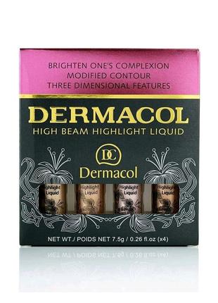 Dermacol High Beam Highlight Liquid набор жидких хайлайтеров