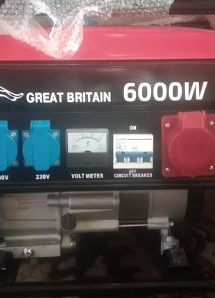 Бензиновый генератор JAGUAR Great Britain 6000w