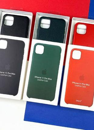 Чехол кожаный LEATHER CASE ORIGINAL iPhone 11 pro Х XS Xr