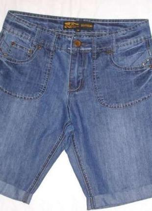 Шорты boyfriend denim размер 40-42 тонкие летние джинсовые жен...