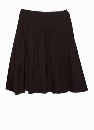 Стильная черная юбка-миди в сладки