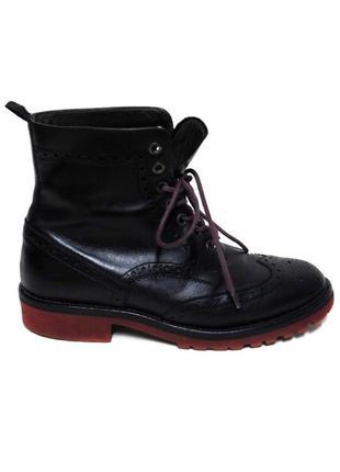 Кожаные высокие ботинки из 100% натуральной кожи на шнуровке о...