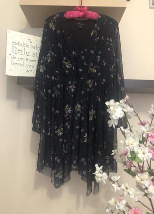 Очень красивое асимметричное платье, платье на запах, платье с...